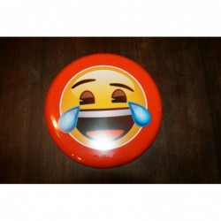 Emoji Frisbee, laughing