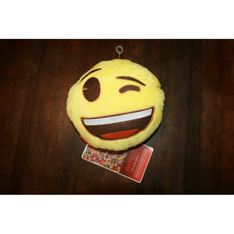 Emoji head cover - wink